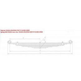 Рессора задняя ГАЗ 33104-2912010 два витых ушка (11 листов L=1,672мм)